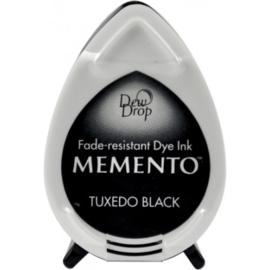 Tsukineko Memento Dew Drops inktkussen - Tuxedo Black