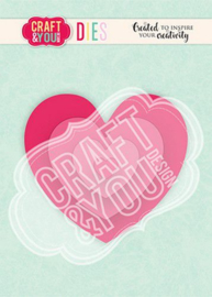 Craft&You - Cutting Die - Hearts 2 CW124