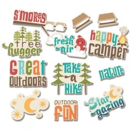 Happy Camper Great Outdoors Word Die Cuts