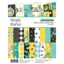 Simple Stories - Simple Vintage Lemon Twist - 6x8 Inch Paper Pad (15219)