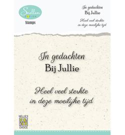 Nellie`s Choice - Clear Stamps - Texts nr. 5 -In gedachten bij jullie