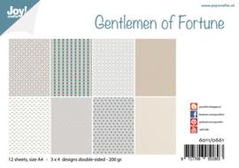 Joy! Crafts - Papierset  A4 - Design - Gentlemen of Fortune