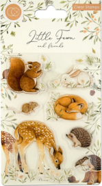 Craft Consortium -  Little Fawn & Friends - Clear Stamps - Little Fawn