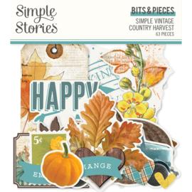 Simple Stories - Simple Vintage Country  Harvest - Bits & Pieces