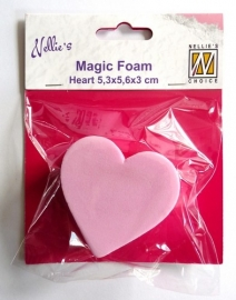 Nellies Choice Mixed Media Magic Foam heart shape NMMF006 5cmx5,6cm thick 3cm