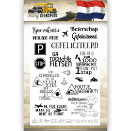 Amy Design - Clearstamp Text -  Daily Transport Nederlands