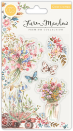 Craft Consortium - Farm Meadow - Clear Stamps - Florals