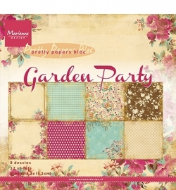 Marianne Design - Pretty Papers Bloc - Garden Party - ca.15,2 x 15,2 cm