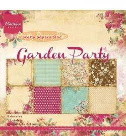 Marianne Design - Pretty Papers Bloc - Garden Party - ca.15,2 x 15,2 cm