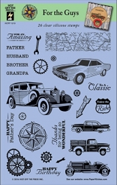 Hot Off The Press - For the Guys Clearstamps (26!)