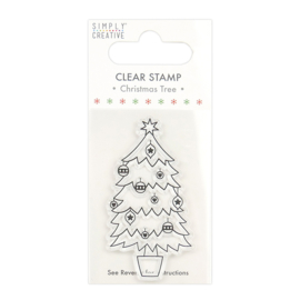 Simply Creative -  Christmas Tree Clear Stamp (SCSTP034X20)