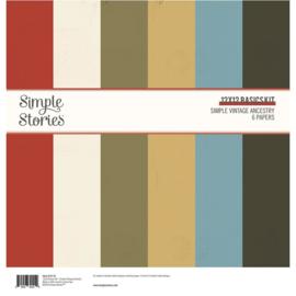 Simple Stories - Simple Vintage Ancestry - Basics Kit 30,5 x 30,5 cm