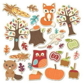 Happy Harvest Fall Friends Icon Die Cuts