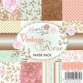 Wild Rose Studio - Vintage Rose Paper Pack