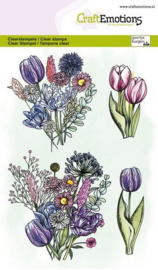 CraftEmotions - clearstamps A6 - Tulpenboeket GB