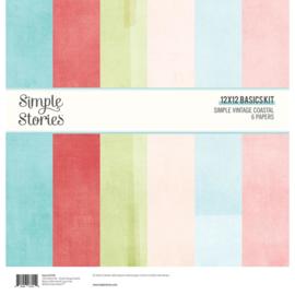 Simple Stories  -Simple Vintage Coastal -12x12 Inch Basics Kit (12726)