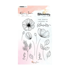 Studio Light - Clear stamp A6 Karin Joan Blooming nr.02