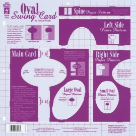 Hot Off The Press - Oval Swing Card Template