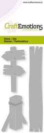CraftEmotions - Die - Wegwijzer, meerpaal - Card 5x10cm