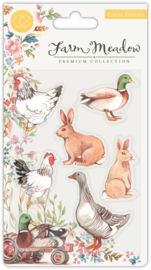 Craft Consortium - Farm Meadow - Clear Stamps - Animals