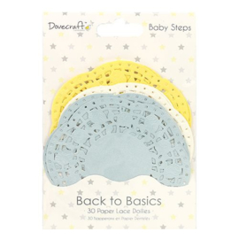 Dovecraft Back to Basics Baby Steps Lace Doilies (DCDLS011)