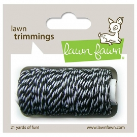 Lawn Fawn - Trimmings Hemp Cord Black Tie - 21yd