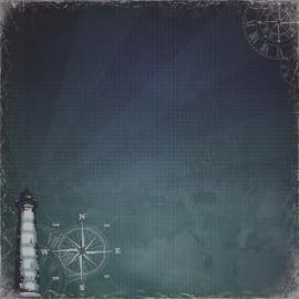 ScrapBerry's - Scrapbooking paper 30,5 x 30,5 cm dubbelzijdig - Seaside - The Old Lighthouse