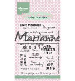 Marianne Design - Clearstamps - Eline's baby tekstjes