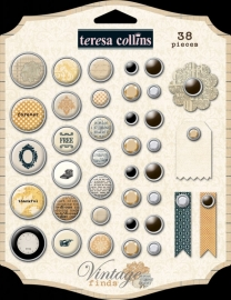 Teresa Collins - Vintage Finds - Brads