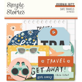 Simple Stories  - Safe Travels Journal Bits (14817)