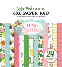 Echo Park - I Love Spring - 6x6 Inch Paper Pad (15,2 x 15,2 cm)