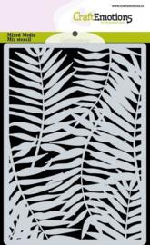 CraftEmotions  -Mask stencil - achtergrond Palmbladeren - A6