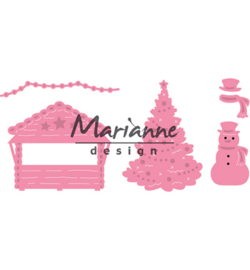 Marianne Design - Collectables - Village Decoration set 5