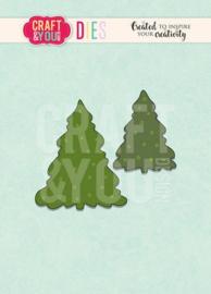 Craft&You - Cutting Die -  Kerstbomen CW096