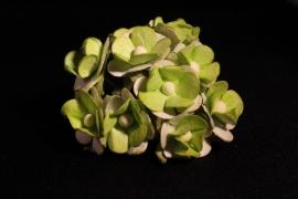 WILD ORCHID CRAFTS - SWEETHEART BLOSSOM 2-TONE GREEN 15 mm - bosje met 10 stuks