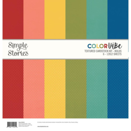Simple Stories - Color Vibe Textured Cardstock 12x12 Inch  Bolds (13414)