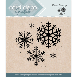 Card Deco Essentials - Clear Stamps - Snowflake