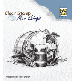 Nellie's Choice - Clear stamps - Men Things  - Beer