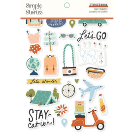 Simple Stories -  Safe Travels Sticker Book (14818) 646 stickers