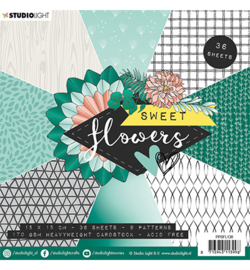 Studio Light - Paper Pad - Sweet Flowers nr.138