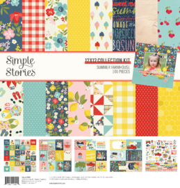 Simple Stories - Summer Farmhouse Collection Kit - 30,5 x 30,5 cm