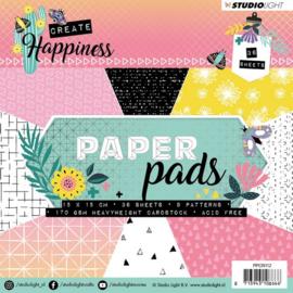 Studio Light -  Paper Pad - Create Happiness nr 112