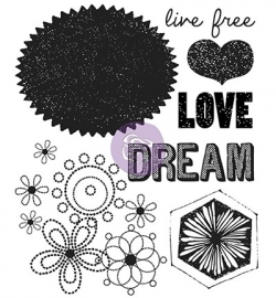 Prima Marketing - Clear Stamps - free spirit 2