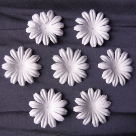 WILD ORCHID CRAFTS - MULBERRY PAPER BLOOMS - 20 stuks Wit 5 cm