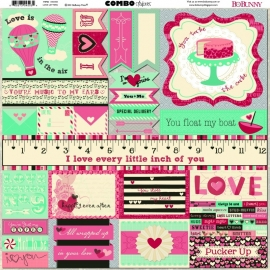 BoBunny - Love Letters - Combo Stickers