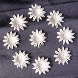 WILD ORCHID CRAFTS - MULBERRY PAPER BLOOMS - 20 stuks Wit 2,5 cm