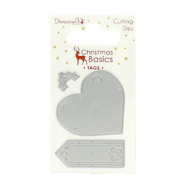 Dovecraft Christmas Basics Dies Tags (DCDIE059X16)