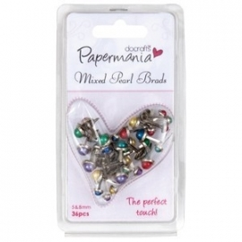 Papermania - Mini Gem Brads -Assorted Primary
