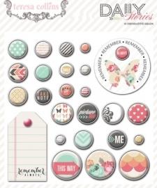 Teresa Collins - Daily Stories - Decorative Brads 25 stuks