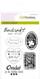 CraftEmotions - clearstamps A6 - Tekst Labels (NL)